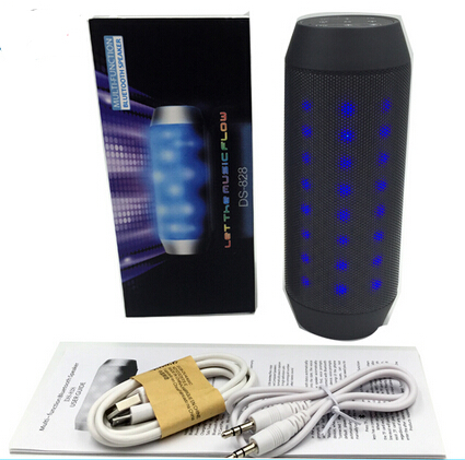 DS828 Portable Wireless Bluetooth Speaker With LED Lights, Travel Outdoor Speaker