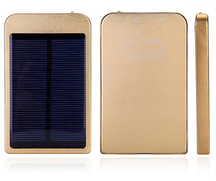 Super slim metal 2600mah solar charger for mobile phone