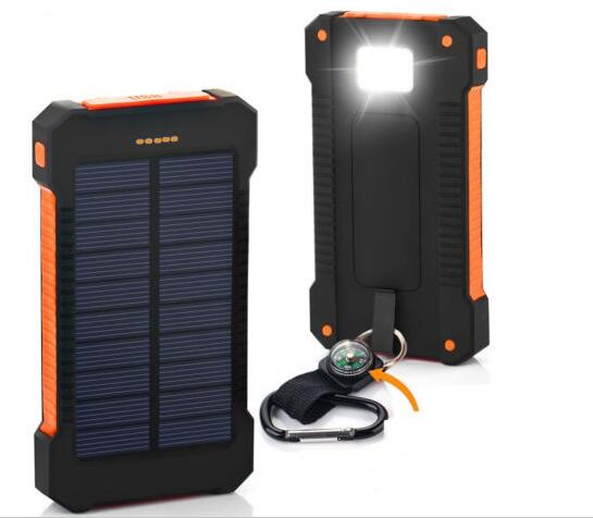 Solar Charger 8000mah Waterproof For Outdoor Camping Super Fast Charge Original Power Supply