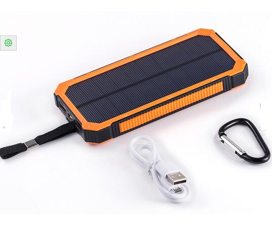 Wholesale solar power bank 12000mAh for iphone and andorid