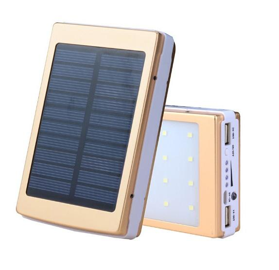 New Fashion LED Light 30000mah Solar Power Bank