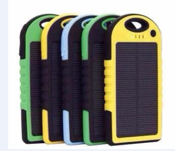 5000mah Waterproof solar charger for iphone and smartphone