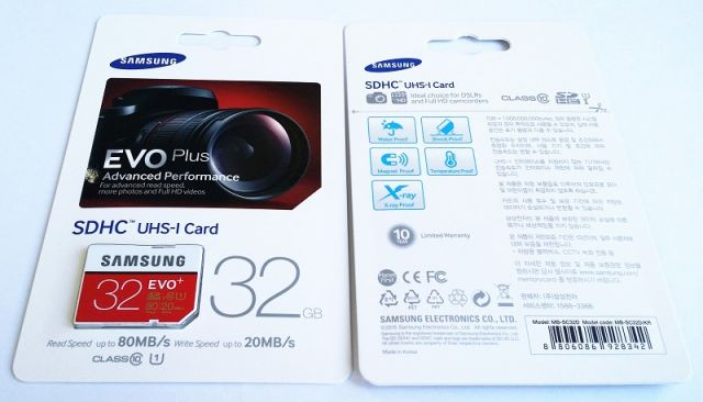 samsung SD EVO PLUS R80/W20 32GB-64GB