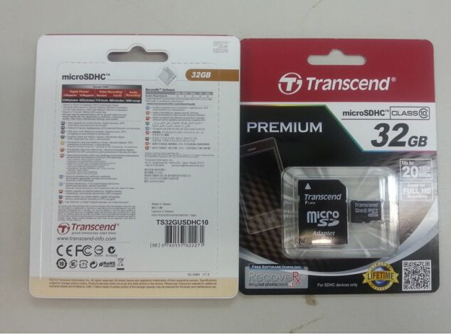 Transcend Micro SD Class 10 with adaptor 4GB-32GB