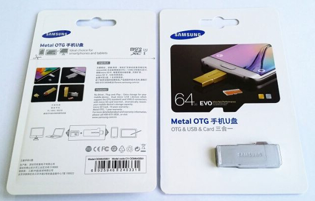 Samsung Micro SD with Metal OTG Silver 16GB-64GB